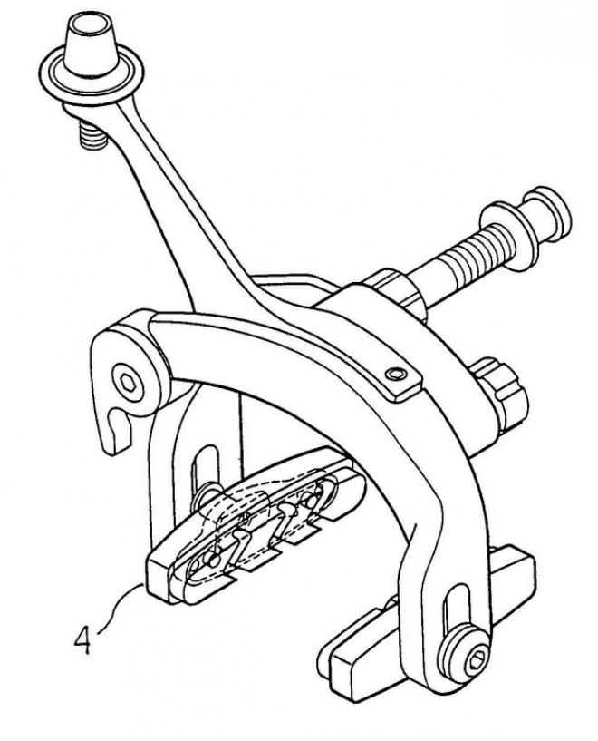 engineering drawing of a bicycle